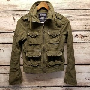 PINK Victorias Secret Military Army Green Jacket